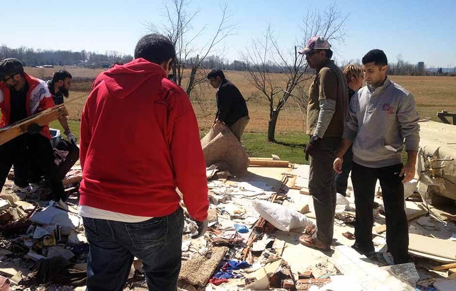 MAC Volunteers at Henryville Tornado Cleanup 2012