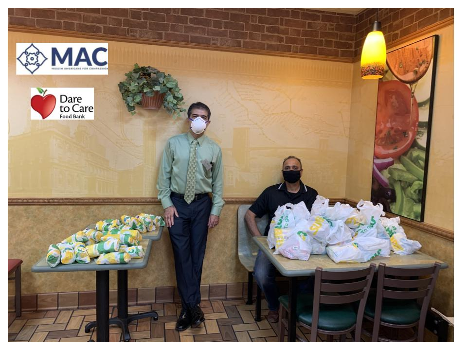 MAC Delivers Food to Dare to Care Frontline Workers
