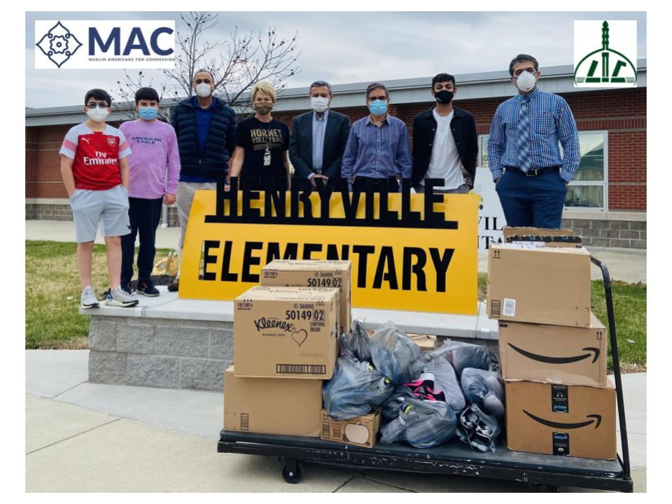 MAC and Louisville Islamic Center for Compassion Support Henryville Elementary