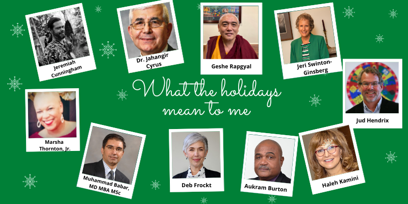 "Dr. Babar Joins Community Leaders Sharing ""What the Holiday Means to Me"""